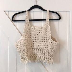 Zara Crochet crop top